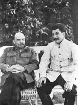 Stalin und Lenin, 1924